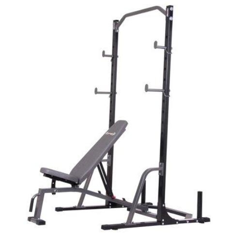 Body Champ PBC1835 2-Piece Power Rack with Weight Bench - all best sales