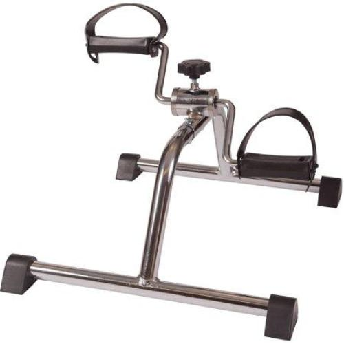 DMI Lightweight Mini Pedal Exerciser Leg and Arm Exerciser, Silver - all best sales
