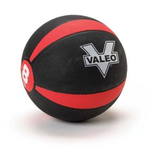 Valeo 8-Pound Medicine Ball Sturdy Rubber Construction Textured Weight Ball Includes Exercise Chart Strength Plyometric Balance Training Muscle Build - all best sales