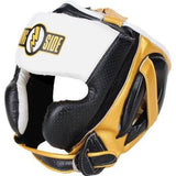 Ringside Youth Mexi-Flex Boxing Headgear - Black/Gold/White - all best sales
