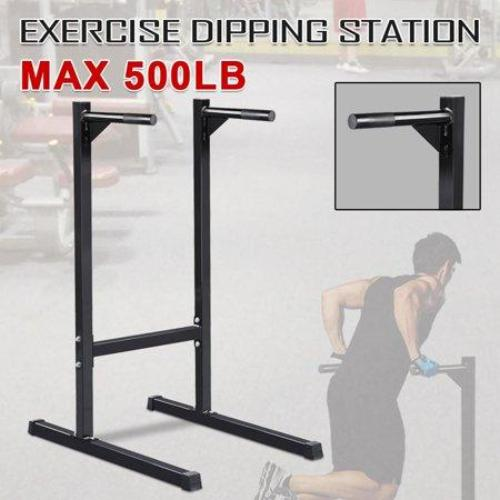 Heavy Duty Dip Stand Parallel Bar Bicep Triceps Home Gym Dipping Station Dip Bar/Power Tower - all best sales