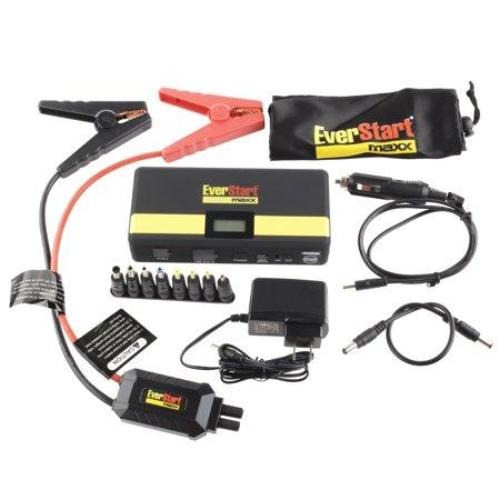 Everstart 600 Amp Lithium Ion Jump Starter Bundle W/Surge Protector, USB Ports, and Carrying Case - all best sales