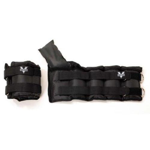Valeo Adjustable Ankle/Wrist Weights - 20 lbs. Total (10 lbs. each) With Adjustable Metal D-ring And Soft Padding For Comfort - all best sales