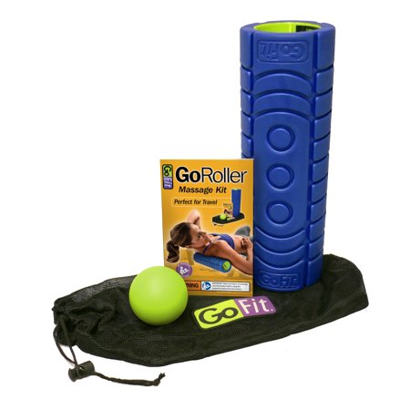 "Go-Roller W/ Trigger Therapy Ball, Carry Bag & Training Manual - 12"" x 4"" - Blue/Green - all best sales"