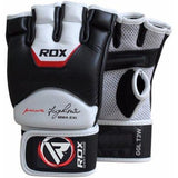 RDX MMA Cowhide Leather T3 Grappling Gloves, White, Large - all best sales