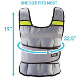 Pure Fitness 20lb Adjustable Weighted Vest - all best sales