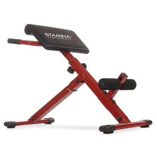 Stamina X Adjustable Ab Back Core Strength Exercise Fitness Hyperextension Bench - all best sales