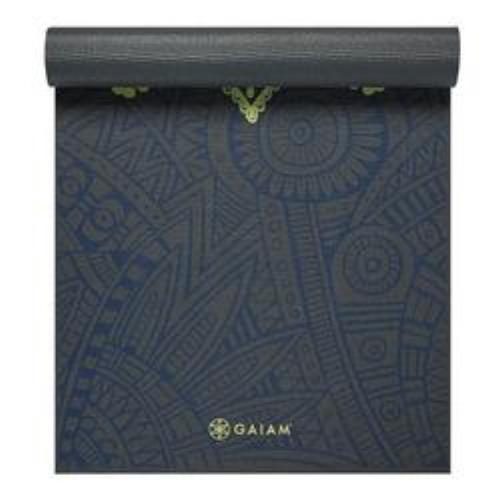 Gaiam Premium Print Yoga Mat, Sundial Layers, 6mm - all best sales