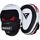 RDX Cow Hide Leather Focus Mitts Pads Kick Training Boxing - all best sales