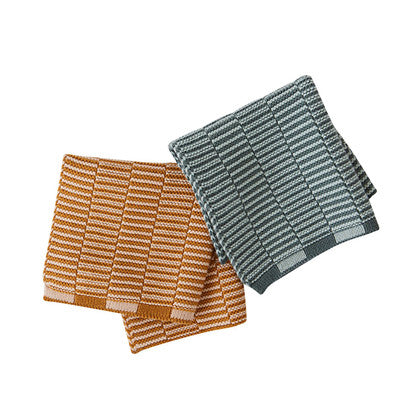 OYOY - Stringa Dish cloth, Green/honey