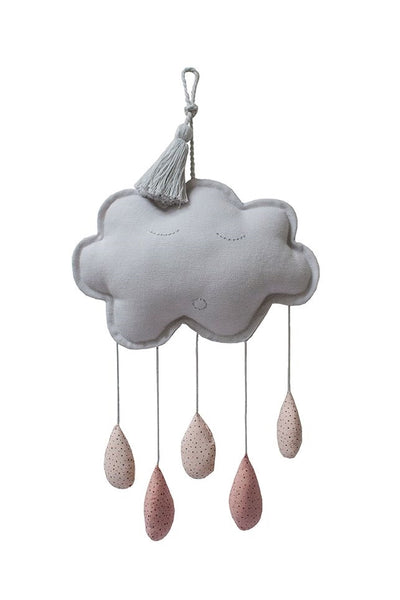 My mini label - cloud mobile grey/blush