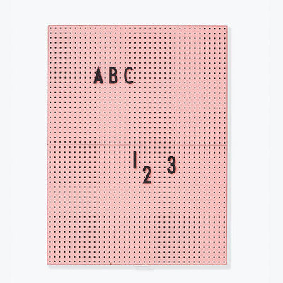 Design Letters Message Board A4 Pink
