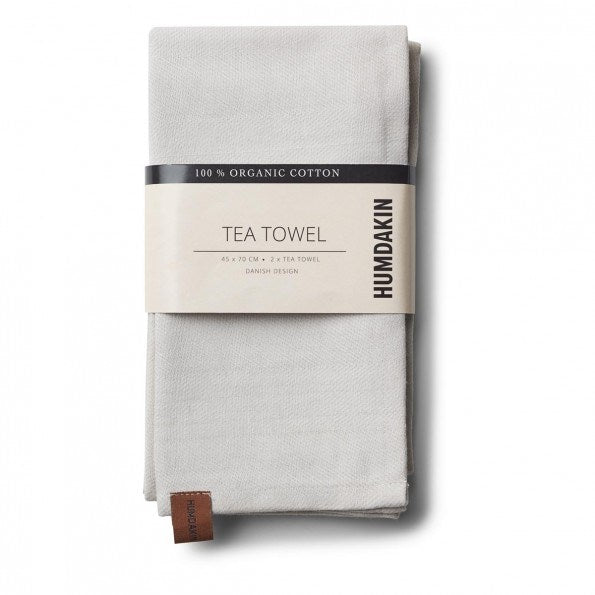 HUMDAKIN tea towel - light stone