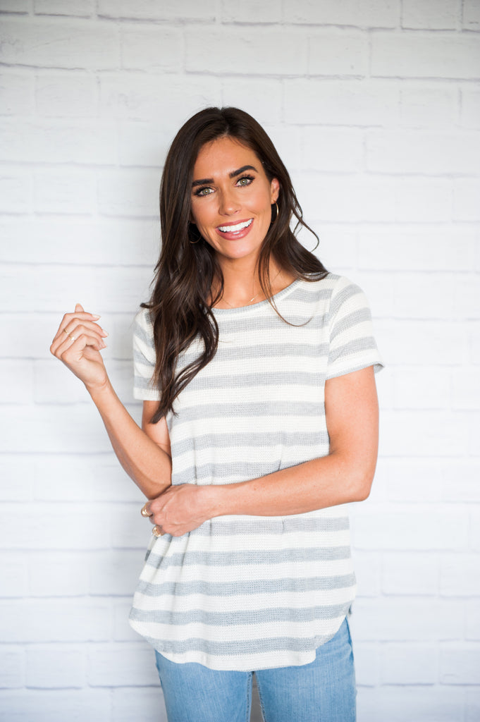 Jones Waffle Knit Stripe Top