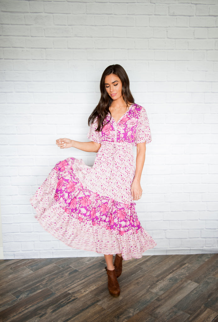 Jocelyn Pink Floral Dress