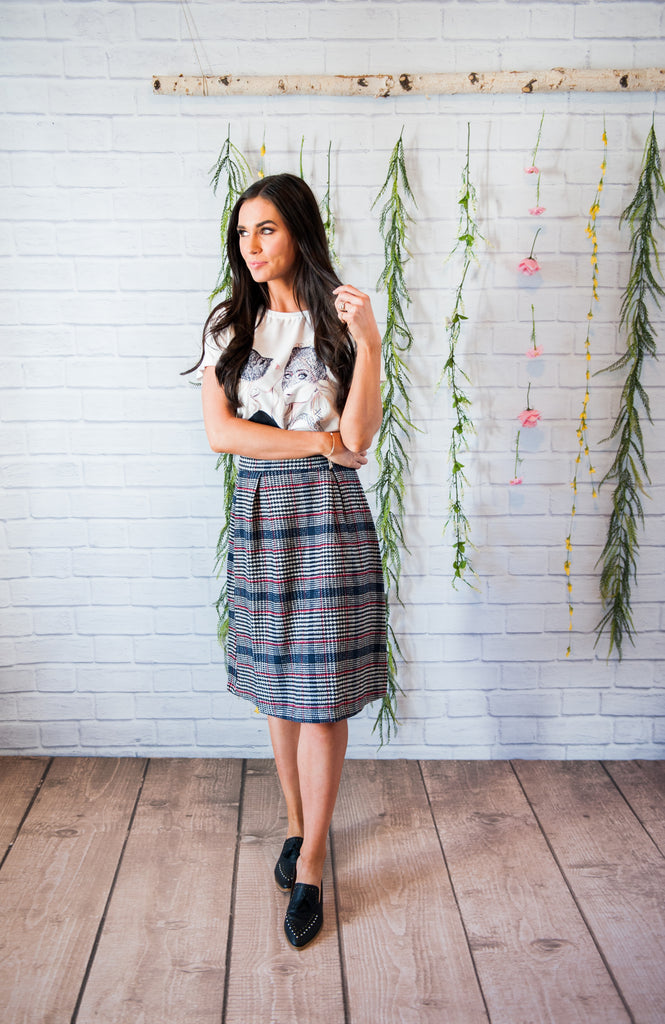 Ozzie Plaid Skirt