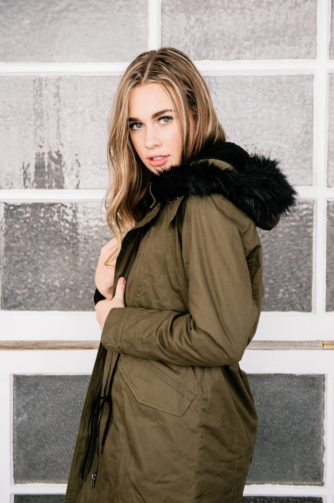 Olive Winter Coat