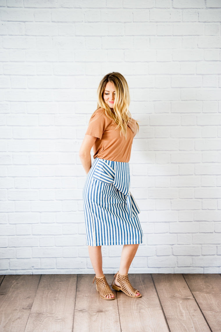 Georgia Striped Skirt