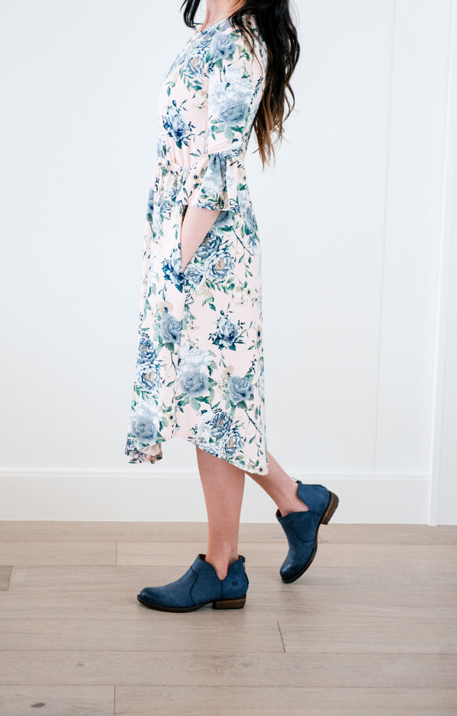Belle Blush Floral Dress
