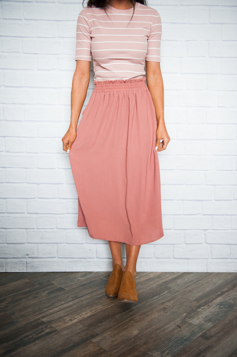 Rose Skirt with Pockets