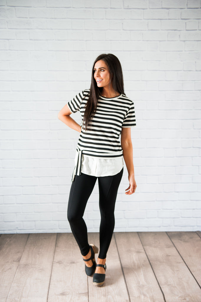 Windsor Striped Layered Top