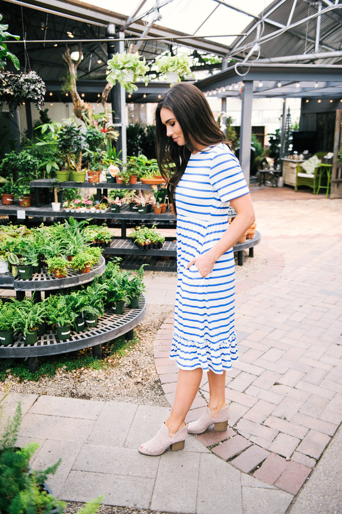 Monterey Stripe Midi Dress