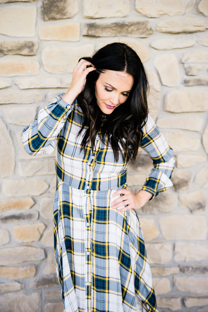 Ollie Plaid Dress