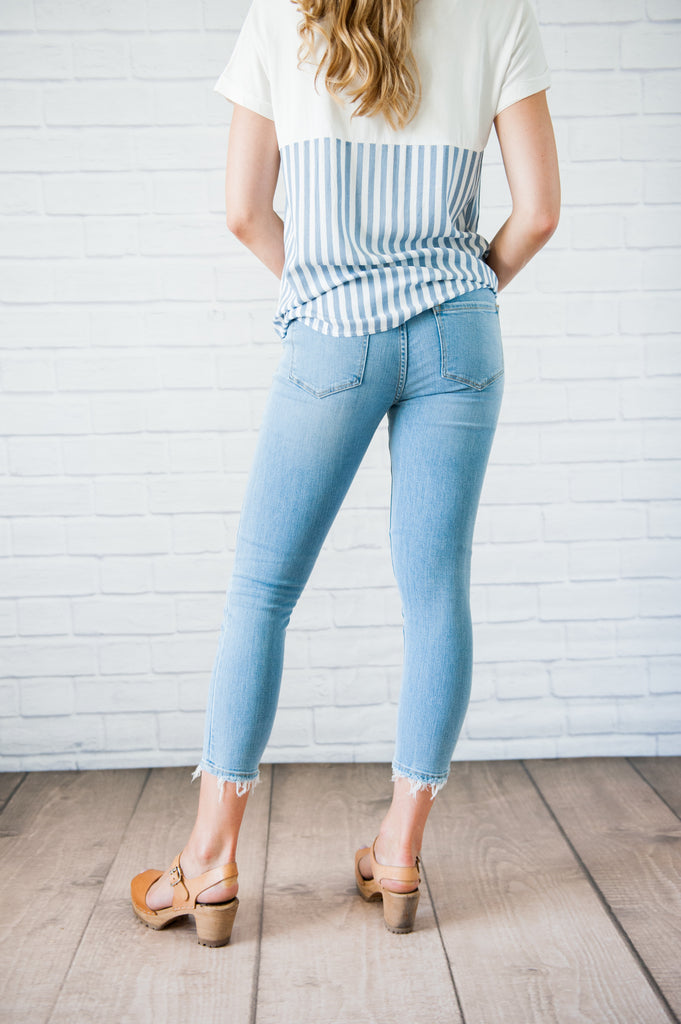 Penny Cropped Denim Jeans