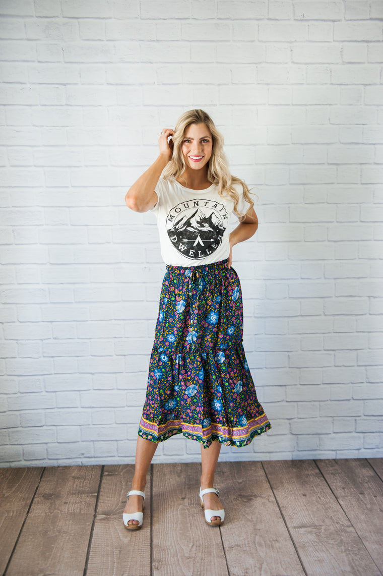 Gypsy Blue Skirt