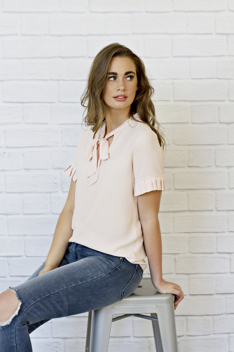 Simone Blush Blouse