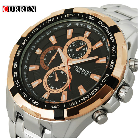 2017 Curren mens full steel Wrist watch