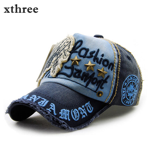 Xthree embroidery antique style Baseball Cap
