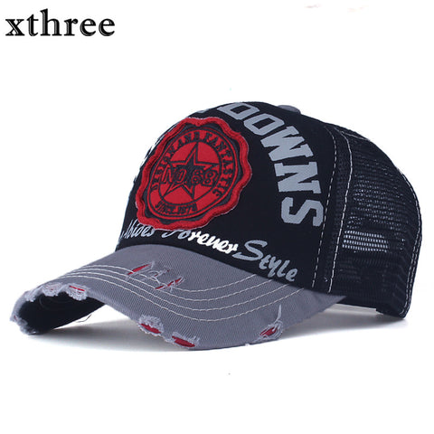 Xthree snapback casquette embroidery letter cap