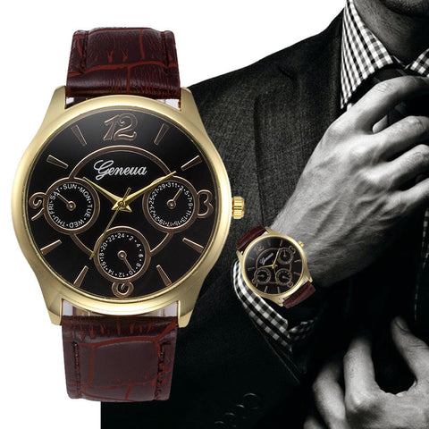 Luxury Men's Quartz Stainless Steel Wrist Watch