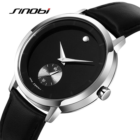 Men's Genuine leather Top Luxury brand Japan Quartz Wristwatch
