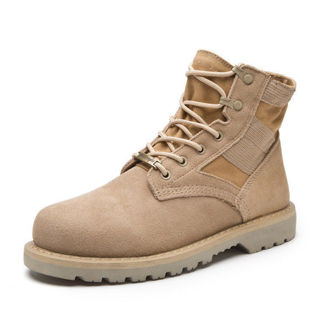 Cow Suede Men Desert Military Tactical Outdoor Combat Army Boots