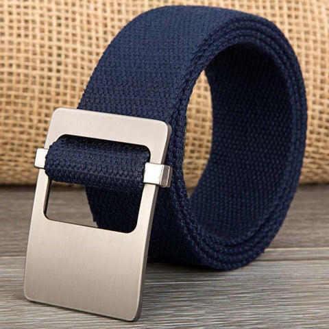 Deep Blue Canvas Belt