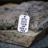 Hug a Pug Dog Tag Necklace