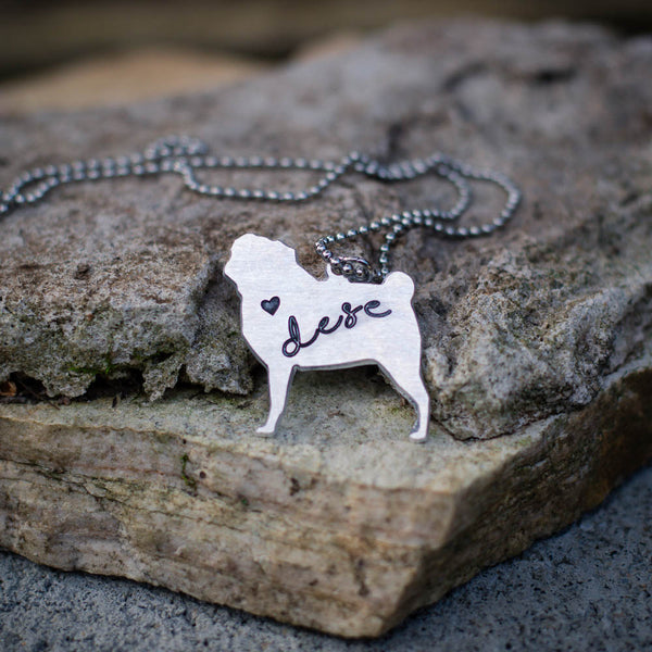 Personalized Pug Necklace