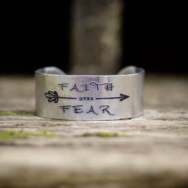 Faith over Fear Cuff