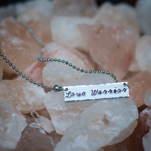 Love Warrior Bar Necklace