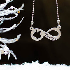Boston Terrier Infinity Necklace