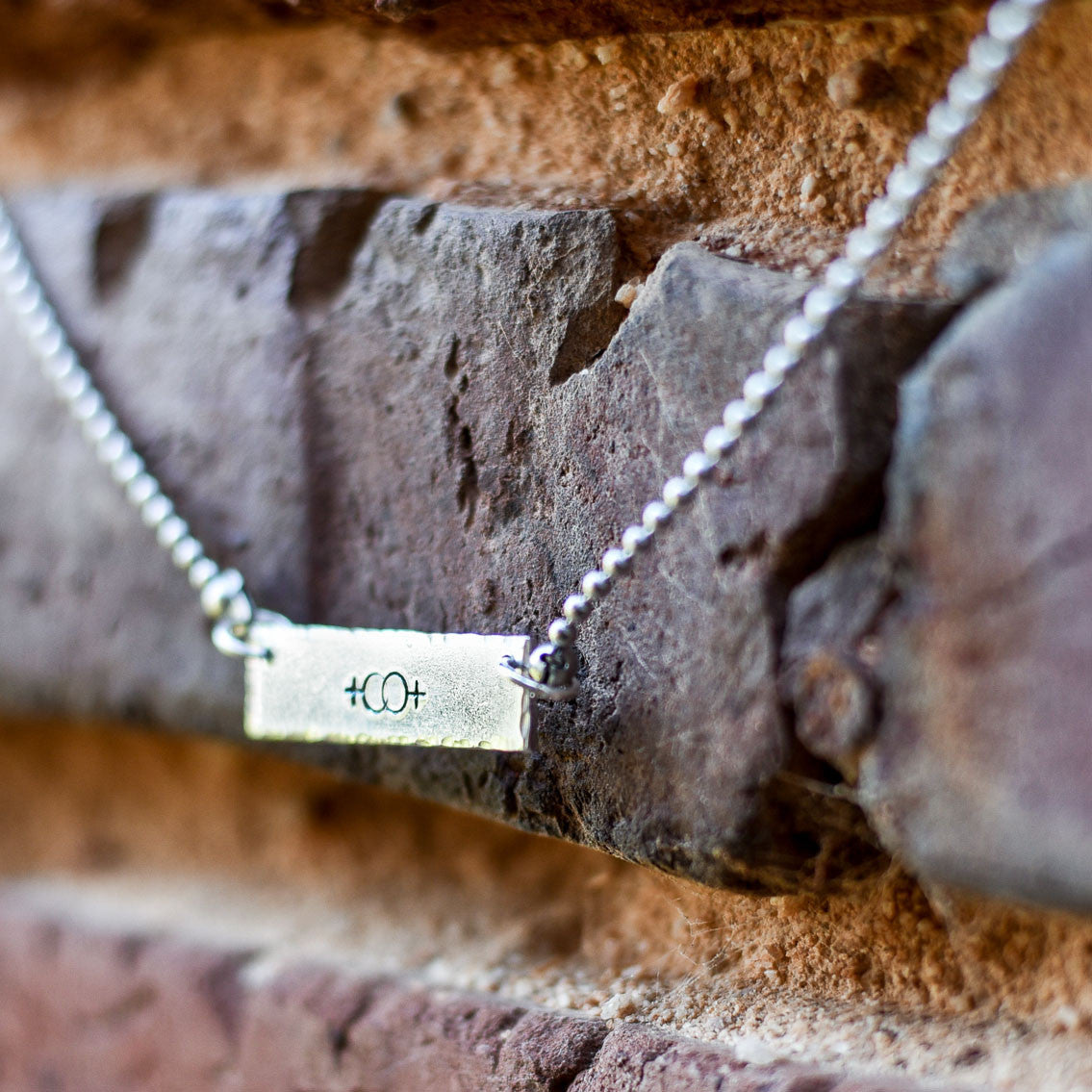 Female Symbols Bar Necklace