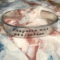 Progress Not Perfection Cuff