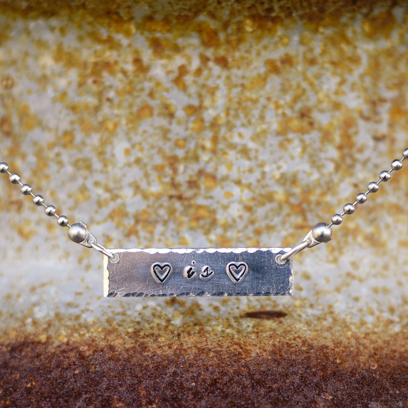 Love is Love Bar Necklace
