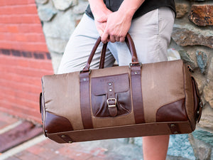 Men Handmade Leather Duffel Bag Mexico