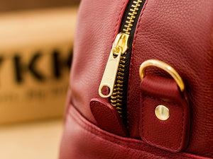 Wine Leather Bag Elegant