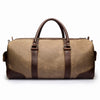 Canvas and Leather duffle | Back View | Falcon Sand Canvas | Quavaro