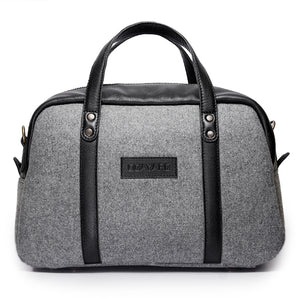 Albatross- Grey canvas and Black leather - Quavaro