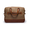 Canvas and leather laptop case | Back View  | Eagle Big Sand canvas | Quavaro